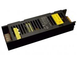 Блок питания светодиодной ленты 200Вт black узкий 12В