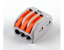 Клемма строительно-монтажная 3-проводная 24А 1-4мм LD222